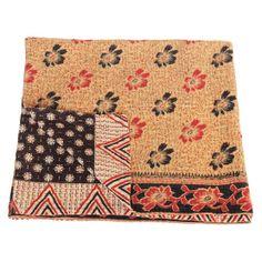 kantha sari blanket mana_flowers