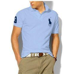 Ralph Lauren Men\u0026#39;s Classic Slim-Fit Big Pony Short Sleeve Polo Shirt Winter Blue /