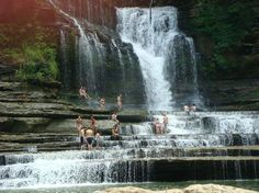 Cummins Falls State Park, Cookeville, Tennessee -- This is one of the top 14 natural swimming pools in the whole world, listed by TripAdvisor. Cummings Falls, State Parks, Tn State, Cummins Falls State Park, Places To Travel, Places To See, Cookeville Tennessee, Tennessee Vacation, Tennessee Usa