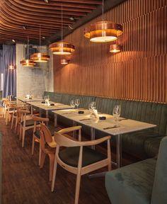 Club Recalling a '60 s Audition Hall interior decor hermes club restaurant4