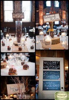 Brilliant decor for an autumn or winter wedding!  www.bellabride.co.za
