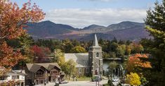 Top 5 Reasons to Fall in Love with Autumn in Lake Placid Perfect Place, The Good Place, Mirror Lake, Mountain Bike Trails, Romantic Evening, Beautiful Hotels, Stunning View, Autumn, Fall