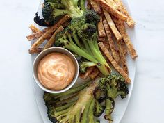26. Broccoli Steaks with Tofu Fries | Our 31-day calendar of meals and tips shows you how to cook more and love it with fun, family-friendly meals that come together quickly and deliciously.