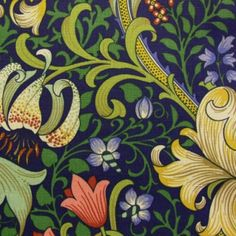 Golden Lily by William Morris. #textiles, #fabrics