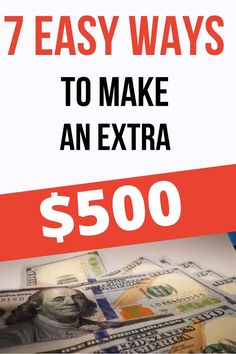 These 7 ways to make extra money are amazing! With these side hustle ideas you can make money from home as a stay at home mom, or just earn extra income on the side. Easily make money online with… Ways To Earn Money, Earn Money From Home, Make Money Fast, Make Money Blogging, Way To Make Money, Earn Money Online Fast, Money Today, Free Money, Online Income