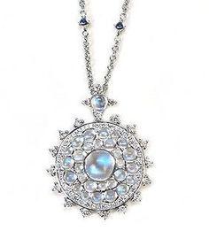 Moonstone and Diamond Pendant by Nam Cho