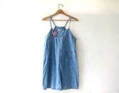 20% OFF SALE Vintage Jean Dress. Blue Denim by dirtybirdiesvintage