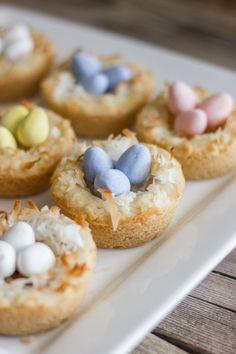 Easter Egg Nest Cookies  #spring #easter