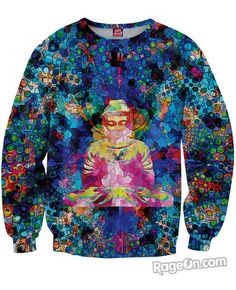 Digital Buddha Sweatshirt *Ready to Ship* - RageOn! - The World's Largest All-Over-Print Online Store