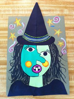 Arts And Crafts For Adults Halloween Kunst, Halloween Art Projects, Theme Halloween, Halloween Arts And Crafts, Fall Art Projects, Classroom Art Projects, School Art Projects, Art Classroom, Art Plastique Halloween