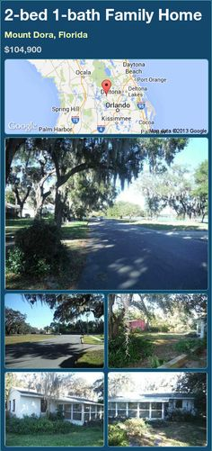 2-bed 1-bath Family Home in Mount Dora, Florida ►$104,900 #PropertyForSale #RealEstate #Florida http://florida-magic.com/properties/92717-family-home-for-sale-in-mount-dora-florida-with-2-bedroom-1-bathroom