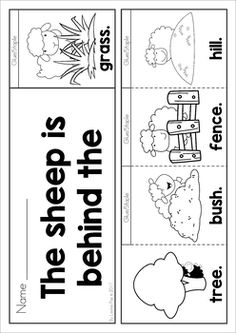Little Bo Peep Nursery Rhyme Worksheets and Activities. Flip book emergent reader booklet (color and black and white versions included).