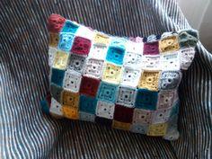 #Almofada #Crochet 45x35cm lado 1