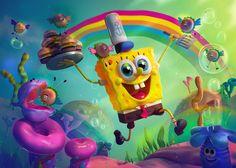 Promo spongebob illustration for Nickelodeon via Mendola reps