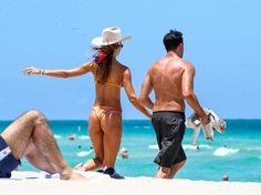 Natalia Borges - On the beach in Miami on June 25