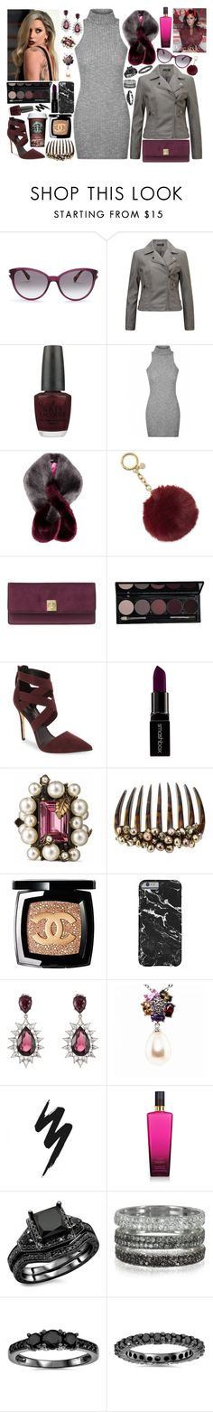 """""""Sleeping with Lions - The Cold Stares"""" by leo8august ❤ liked on Polyvore featuring Diane Von Furstenberg, Miss Selfridge, OPI, Ted Baker, Michael Kors, MICHAEL Michael Kors, Daya, Smashbox, Gucci and Colette Malouf"""