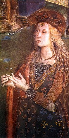The Disputation of Saint Catherine of Alexandria, Pinturicchio modeled after Lucrezia Borgia Lucrezia Borgia, Los Borgia, The Borgias, Renaissance Fashion, Italian Renaissance, Saint Catherine Of Alexandria, Dario Fo, Fra Angelico, Fancy Hairstyles
