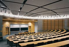 The University of Ontario Institute of Technology in Oshawa, Ontario, Canada, was planned and designed by Diamond Schmitt Architects. Theater Architecture, Innovation Centre, Architectural Services, Hall Design, Too Cool For School, New Construction, Interior Inspiration, Ontario, Auditorium
