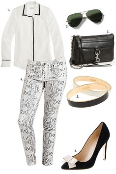 casual chic: black and white