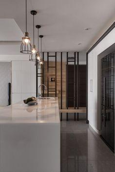 Room divider design ideas - Stylish, modern and decorative room design - Room Divider Interior Desing, Interior Exterior, Interior Design Inspiration, Kitchen Interior, Interior Architecture, Design Ideas, Divider Design, Partition Design, Design Moderne