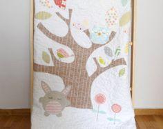 Custom baby crib quilt/baby blanket/Me & my mom by nenimav on Etsy