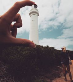Weil's style hat.  #roadtrip #greatoceanroad #great #time #tb #lighthouse #australia #everything #about  #perspective #size #cloudy #sky #bro #awesome #tan #backpacker #backpackerlife #travel #brissyboyswiedergesehen by me_lanie_d
