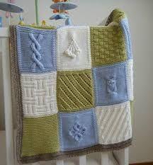modele gratuit de couverture au tricot pour bebe