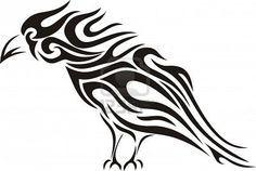 Illustration of Tribal raven tattoo vector art, clipart and stock vectors. Celtic Raven Tattoo, Raven Tattoo Meaning, Tattoos With Meaning, Tribal Animal Tattoos, Tribal Animals, Tribal Art, Tribal Style, Bild Tattoos, Body Art Tattoos