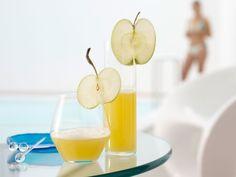 Apfel-Ananas-Saft mit Ingwer: Der Apfel enthält leicht verdauliche Kohlenhydrate, Vitamin C, das die Widerstandskraft des Körpers stärkt und Kalium.