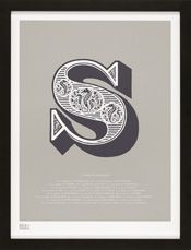 Bold & Noble Illustrated Letters.   S - a herd of Seahorses