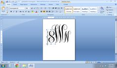 How to Make a Monogram in Microsoft Word