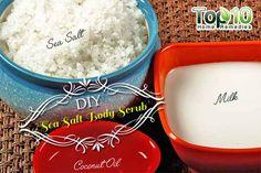 DIY coconut oil sea salt body scrub