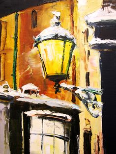 'London winter' by Gleb Goloubetski Oil on Canvas 60cm x 50cm