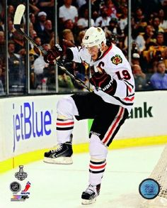 Jonathan Toews Chicago Blackhawks 2013 Stanley Cup Finals Game 4 Goal Celebration Photo 8x10 ,$6.99