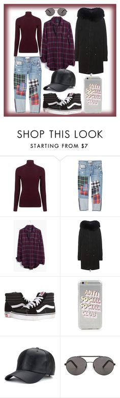 """""""tas"""" by xxelectre on Polyvore featuring moda, Pink Tartan, MANGO, Madewell, Mr & Mrs Italy, Vans e Seafolly"""
