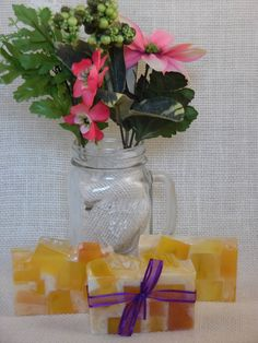 Awake is a fresh clean blend of ylang ylang, jasmine with a touch of sweet violets ~Hand Made Soaps~
