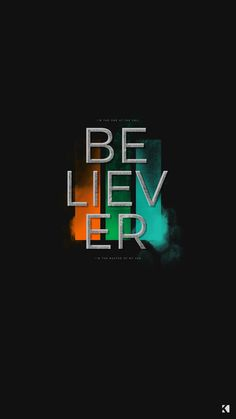 Imagine Dragons Believer Lyrics Wallpapers by KAESPO Design