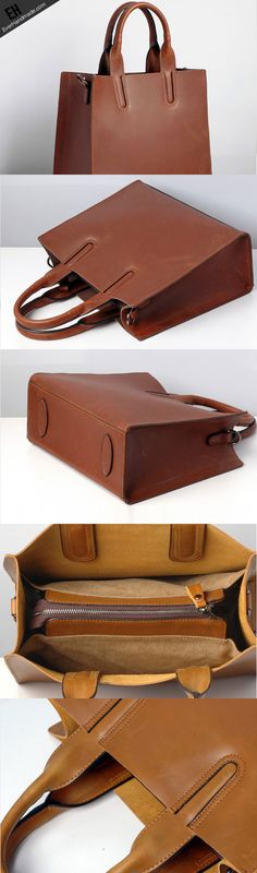 Handmade Leather handbag shoulder bag purse tote for women