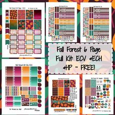 12 FREE Printable Fall Planner Stickers to decorate your planner this autumn: planner stickers weekly kit, monthly kit, checklist stickers, fall bucket list To Do Planner, Passion Planner, Free Planner, Planner Pages, Happy Planner, Planner Ideas, Planner Diy, Filofax, Planners