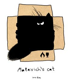"Cats in Art and Illustration: Malevych's ""Cat"" №2"
