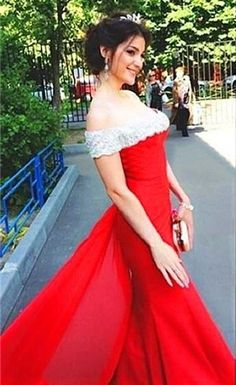 Shop discount Off the Shoulder Red Mermaid Detachable Train Satin Sexy  Formal Evening Dress 75e58f33bff3