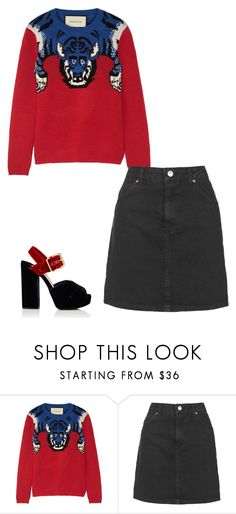 """""""Untitled #1056"""" by h1234l on Polyvore featuring Gucci, Topshop and Prada"""