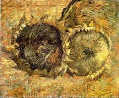 Van Gogh - Deux tournesols coupés