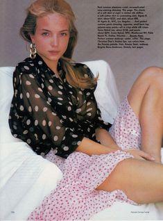 US Vogue May 1988 Photo: Patrick Demarchelier, Model: Rachel Williams