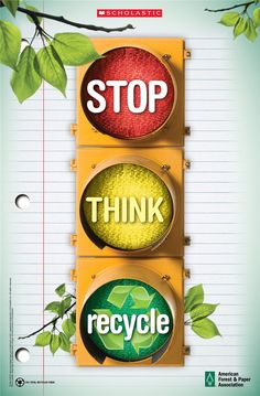 recycling signs to print free | Paper Recycling Poster for Schools