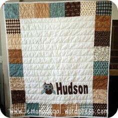 A 'charm'-ing quilt made with a 'charm' pack for a little boy.