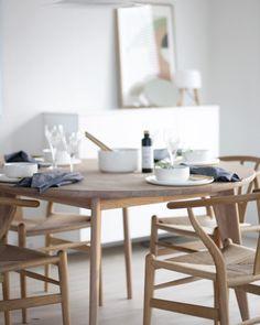 """99 Likes, 7 Comments - nobu HOME (@nobuhome) on Instagram: """"Viken spisebord fra @yggoglyng finnes i tre størrelser. 180 cm, 220 cm og i rundt 130 diameter.…"""""""