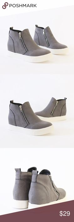 LADIES MICRO SUEDE FAUX LEATHER ANKLE CHELSEA BOOTS GOLD ZIP DETAIL SZ 3-8
