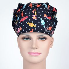 Just Hennar Women Print Surgical Caps Masks 100% Cotton Purple Hospital Surgical Caps Dental Clinic Beauty Salon Workwear Caps Bracing Up The Whole System And Strengthening It Back To Search Resultsnovelty & Special Use