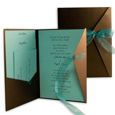 not teal... but I like the bronze envelopes!
